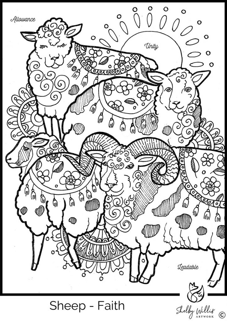 Sheep Coloring Sheet, Shelby Wilils